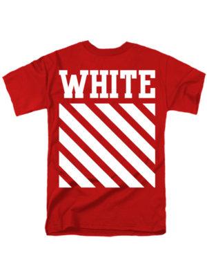 Футболка White красная