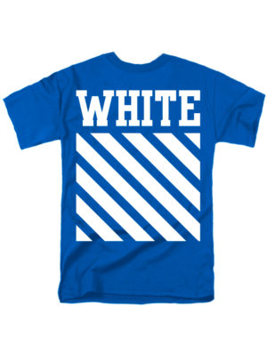 Футболка White синяя