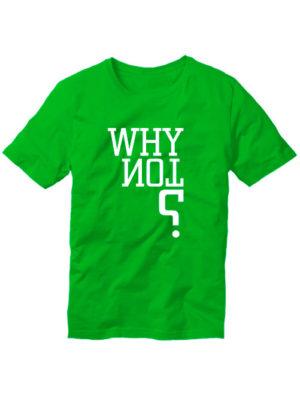 Футболка Why not мужская зеленая