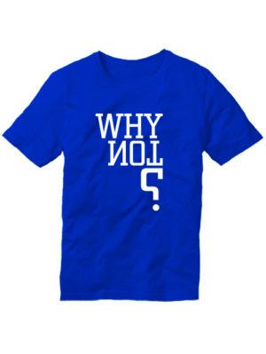 Футболка Why not мужская синяя