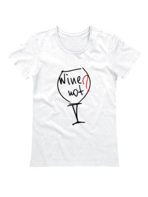 Футболка Wine not белая