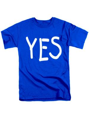 Футболка YES мужская синяя