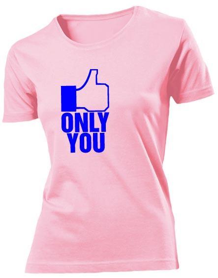 Футболка Only you женская розовая