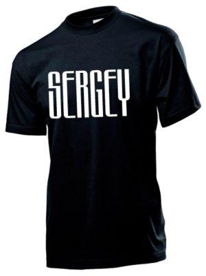 Футболка Sergey мужская черная
