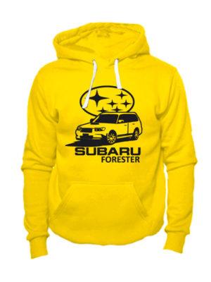 Худи Subaru forester желтая