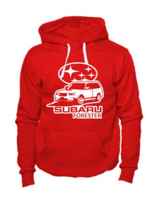 Худи Subaru forester красная