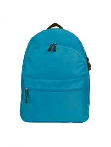 Классический и одновременно стильный молодежный рюкзак. Вместительный и очень удобный, габариты 350x170x450 мм. Рюкзак имеет два внутренний обьемных отделения на молнии, внешний карман на липучке. Материал полиэстер 600D, влагостойкий, износотойкий. Вес изделия 500 гр. Цвет бирюзовый