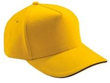 Бейсболка Unit classic желтая