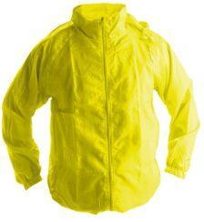 Ветровки с капюшоном желтая