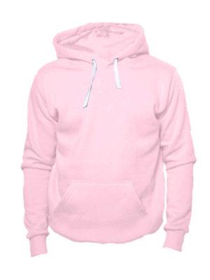 Толстовка с капюшоном нежно розовая