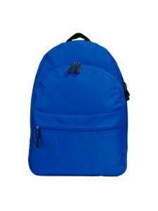 Классический и одновременно стильный молодежный рюкзак. Вместительный и очень удобный, габариты 350x170x450 мм. Рюкзак имеет два внутренний обьемных отделения на молнии, внешний карман на липучке. Материал полиэстер 600D, влагостойкий, износотойкий. Вес изделия 500 гр. Цвет синий