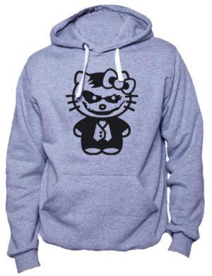 Толстовка Hello kitty джокер серый меланж