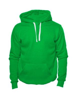 Толстовка с капюшоном зеленая