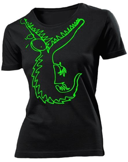 Футболка Крокодил женская черная