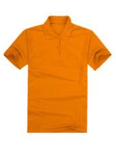 Футболка поло мужская оранжевая