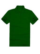 Футболка поло мужская темно зеленая