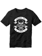 футболка Born to lose черная