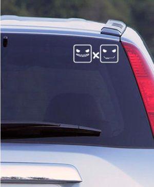 Наклейка на авто 2х2, белая