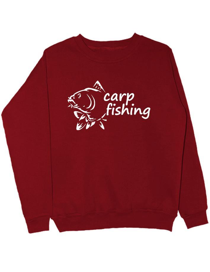 Carp fishing свитшот бордовый