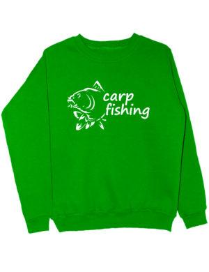 Carp fishing свитшот зеленый