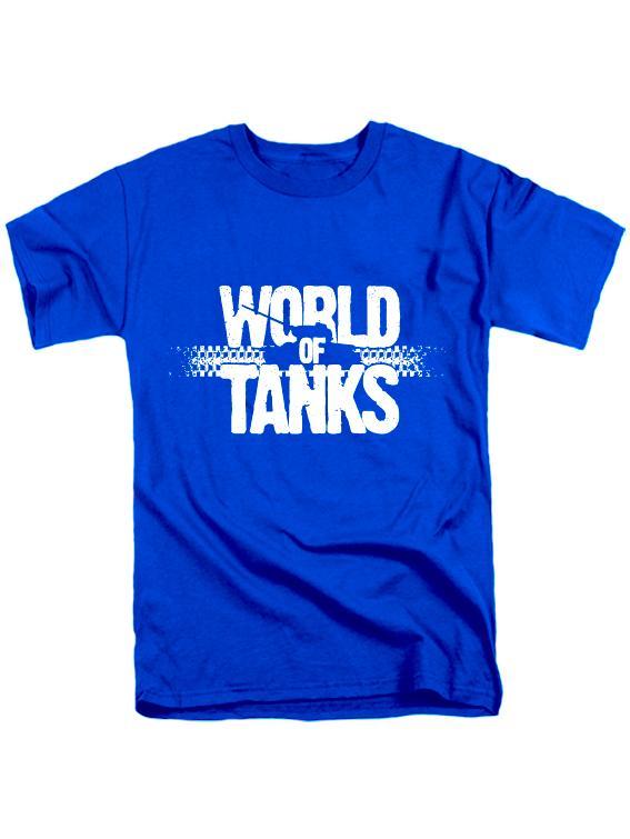World of tanks футболка синяя