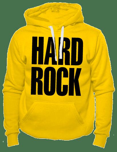 Толстовка Hard rock желтая