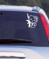 Наклейка на авто hello kitty ak47 белая